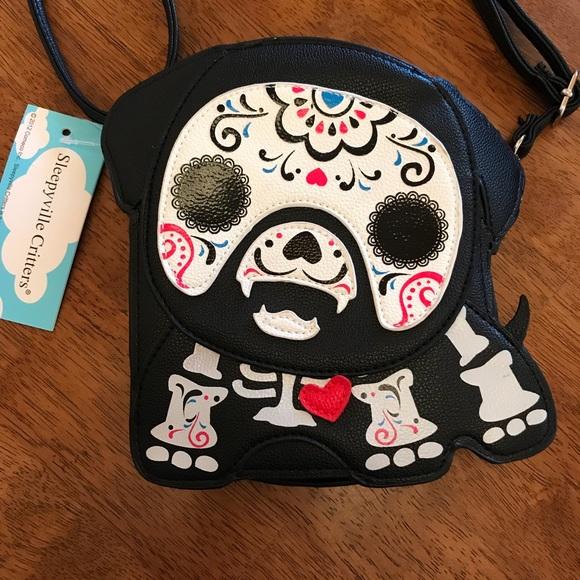 9f0d1048d Bags | Sleepyville Critters Sugar Dog Crossbody Purse Nwt | Poshmark